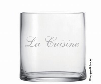 Glassticker La Cuisine