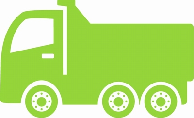 Bouw Kiepwagen sticker
