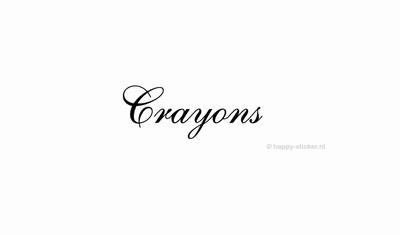Crayons  ca H5 x B20 cm