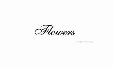 Flowers  ca H5 x B20 cm