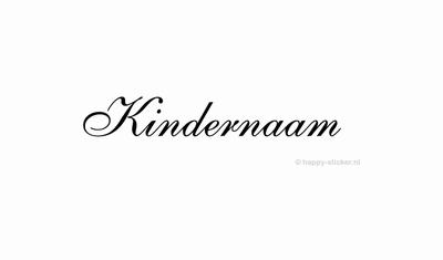 Kindernaam / Voornaam