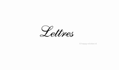 Lettres  ca H5 x B17 cm