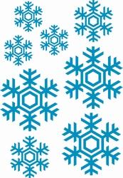 Stickervel Sneeuwvlokken