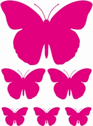 Stickervel Vlinders 2