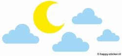Wolken en Maan    (NIEUW)
