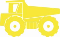 Bouw Zandwagen sticker