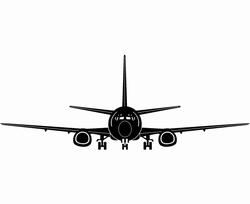 Vliegtuig sticker no1 XXL