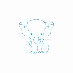 c. Muursticker baby Olifant