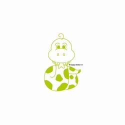 c. Muursticker baby Slang