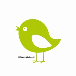 a. Muursticker vogel nr.1