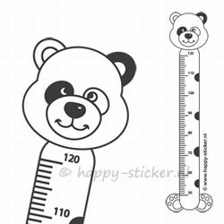 Groeimeter muursticker  Panda
