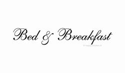 Bed & Breakfast ca H5 x B45 cm