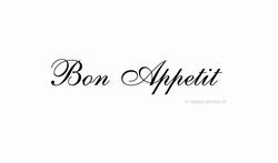 Bon Appetit ca H5 x B35 cm