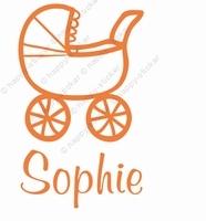 geboortesticker Kinderwagen