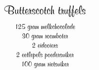 Butterscotch Truffels
