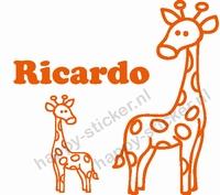 Geboortesticker Giraf