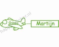 Geboortesticker Vliegtuig