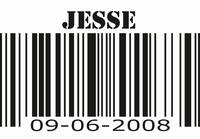 Barcode sticker kinderkamer