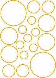 Stickervel Circels lijn