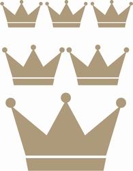 Stickervel Kroontjes, voor prinsen en prinsessen