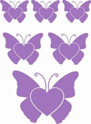 Stickervel Vlinders